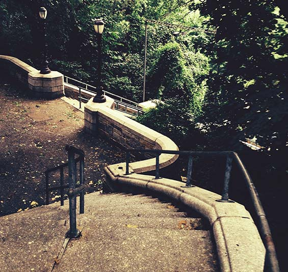 riverside stairway photo